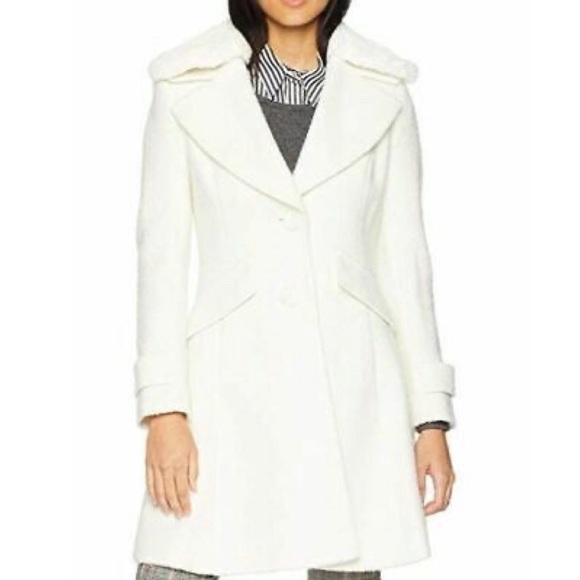Sam Edelman Coat w/ Detachable Faux Fur Collar